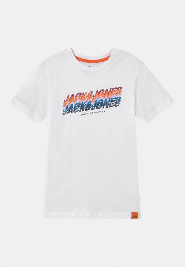 JORTYLER CREW NECK - T-shirt print - white
