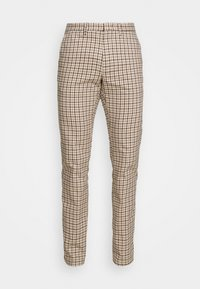 DENTON GINGHAM CHECK - Trousers - beige
