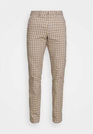 DENTON GINGHAM CHECK - Pantalon classique - beige