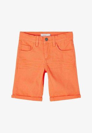 Denim shorts - orange