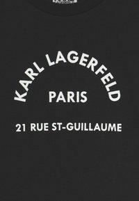KARL LAGERFELD KIDS - SHORT SLEEVES TEE UNISEX - Print T-shirt - black - 2