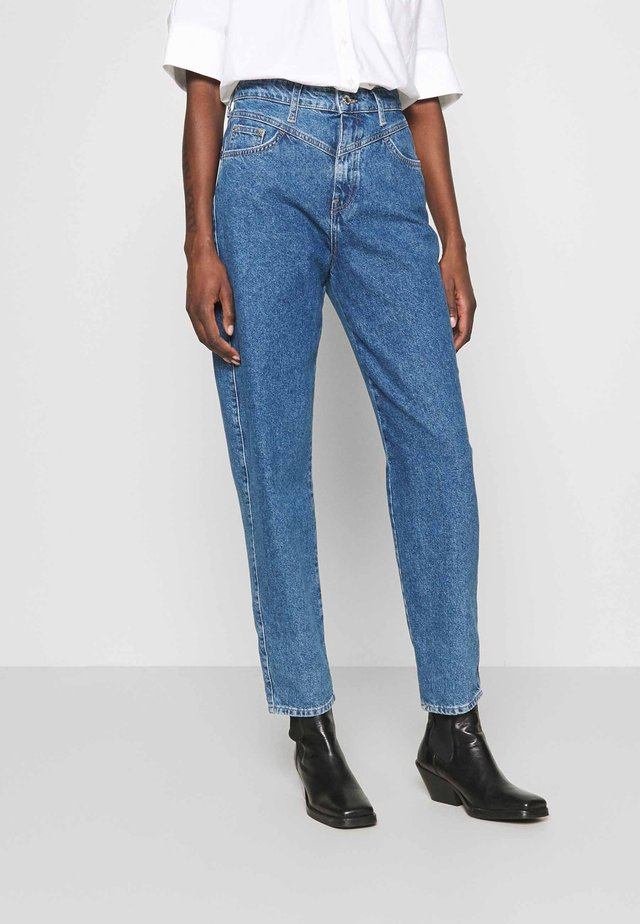 LOLA - Straight leg jeans - dark blue denim