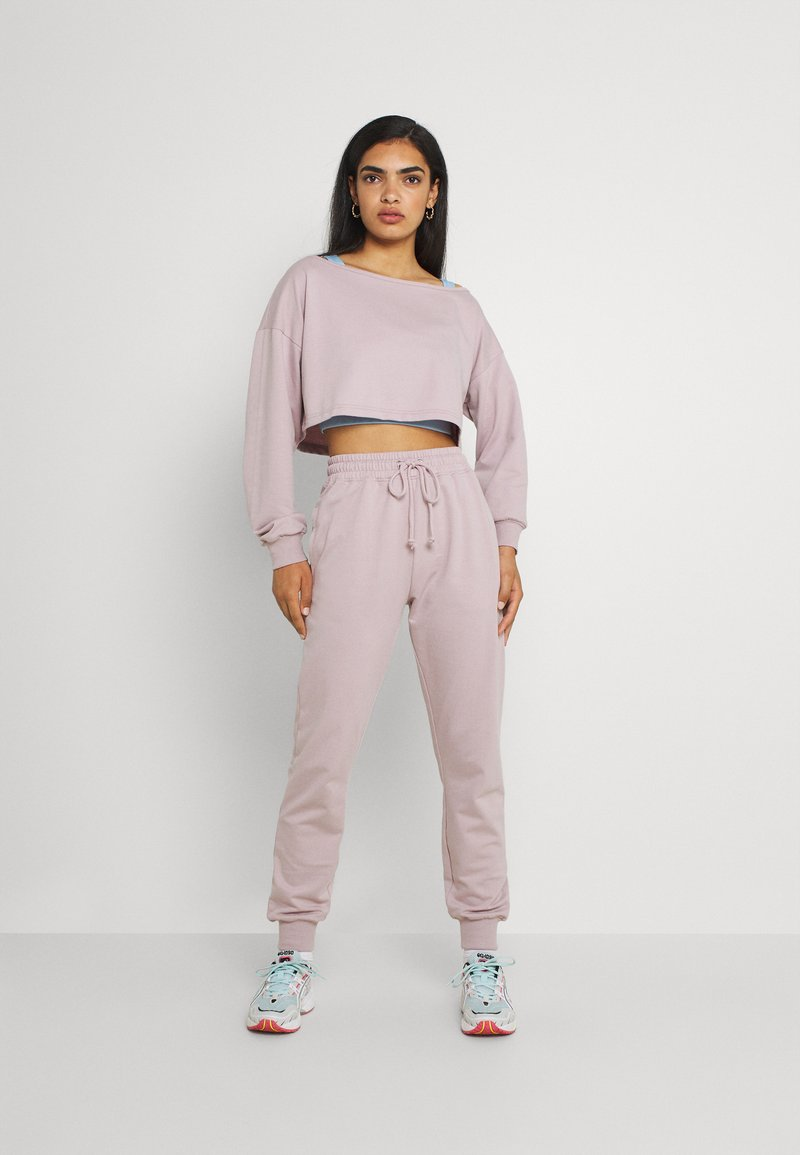 Missguided - COORD OFF THE SHOULDER SET - Tracksuit - lilac
