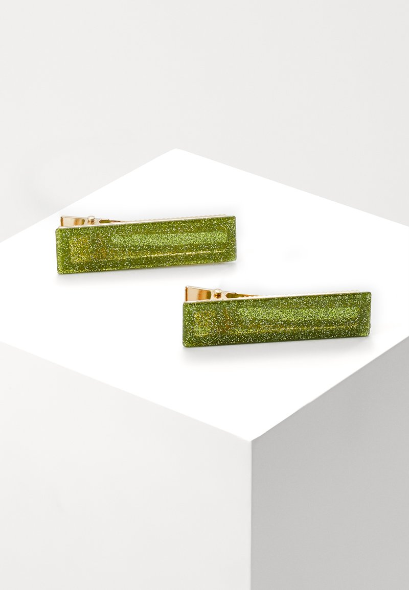 Valet Studio - CLEMENTINE CLIPS 2 PACK - Hair Styling Accessory - green