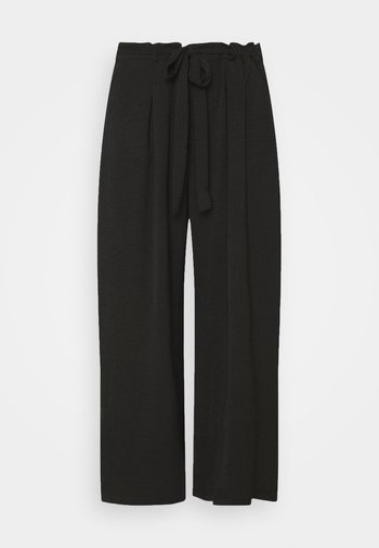 TIE TROUSERS - Pantaloni - black