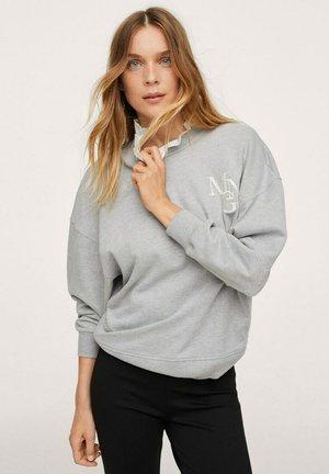 BRODÉ - Sweatshirt - gris chiné moyen