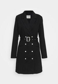 Selected Femme - SLFDORA DRESS - Cowboyjakker - black denim - 0