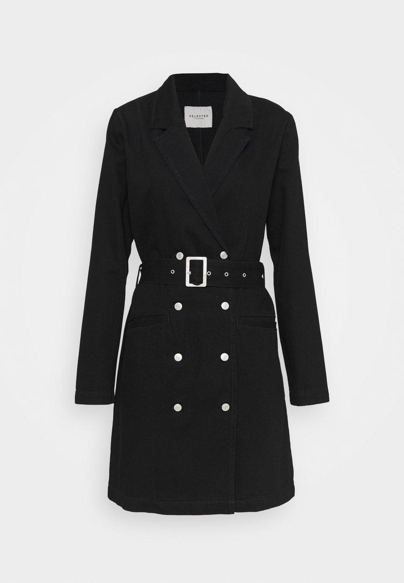 Selected Femme - SLFDORA DRESS - Cowboyjakker - black denim