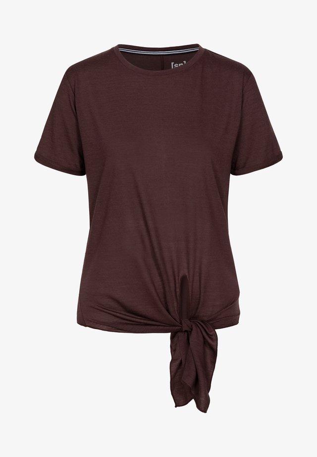 W KNOT  - Print T-shirt - dunkelbraun