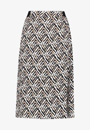 A-line skirt - ecru schwarz sahara druck
