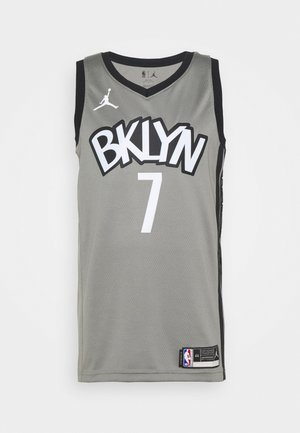 NBA BROOKLYN NETS SWINGMAN JERSEY - Artykuły klubowe - dark steel grey/black