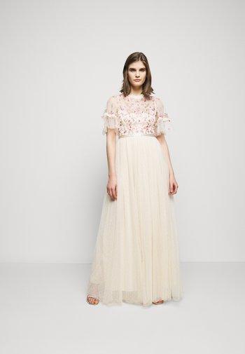 ELSIE RIBBON BODICE MAXI DRESS - Společenské šaty - champagne