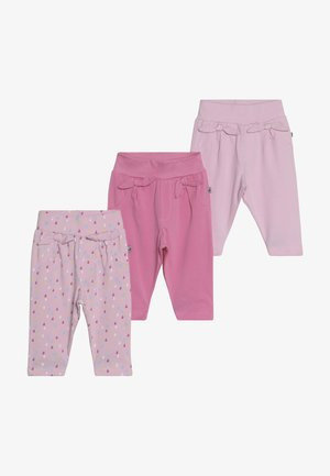 COME RAIN OR SHINE 3 PACK - Trousers - pink