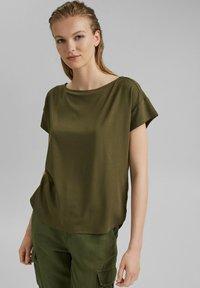 edc by Esprit - Print T-shirt - khaki green - 0