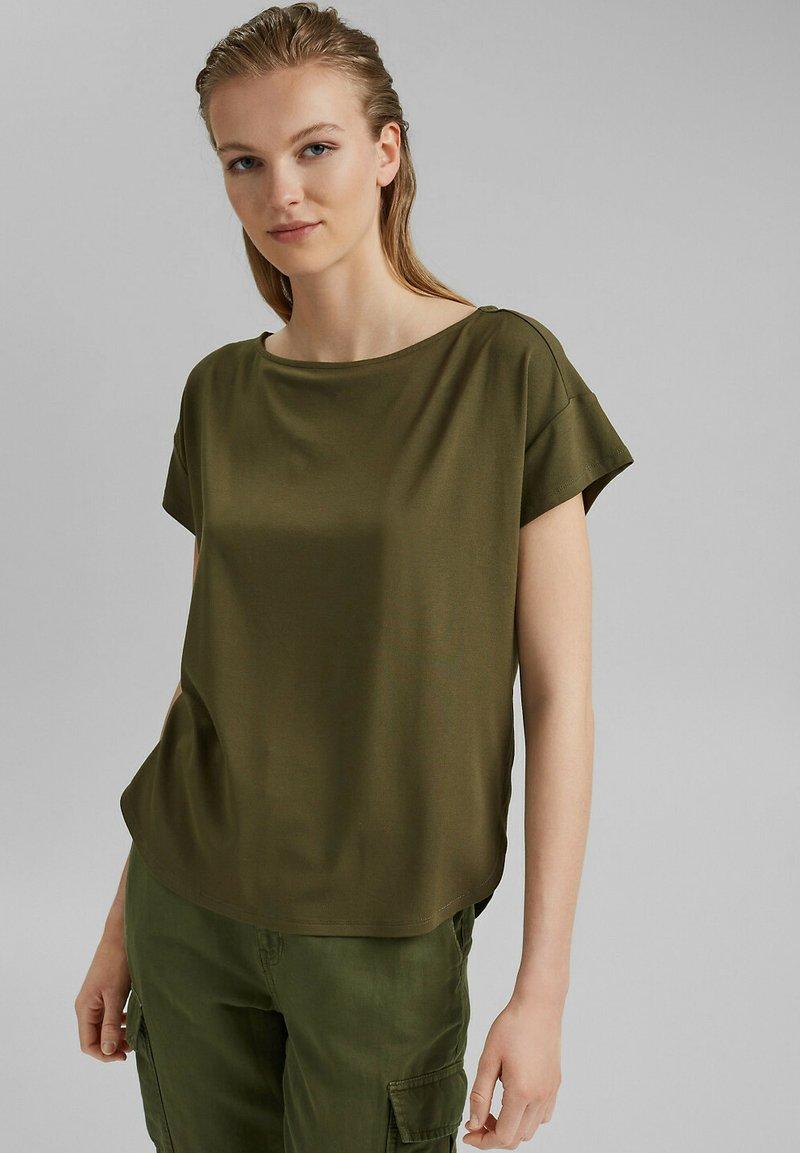 edc by Esprit - Print T-shirt - khaki green