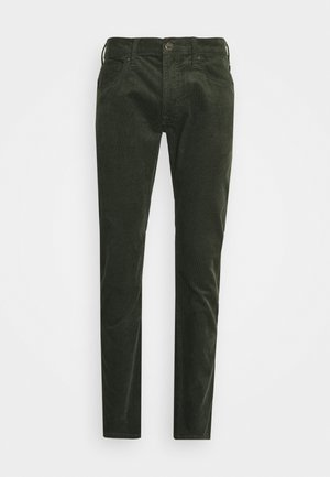 LUKE - Trousers - serpico green