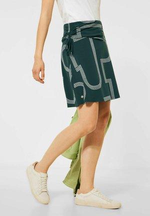 MIT PRINT - A-line skirt - grün