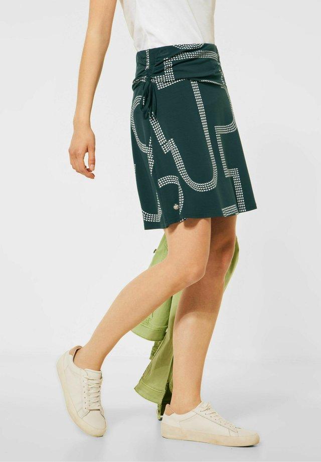 MIT PRINT - A-lijn rok - grün