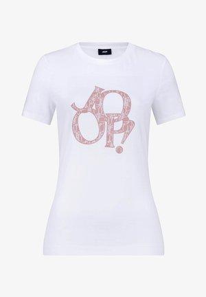TAMI - Print T-shirt - weiß/dark rosé