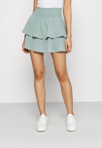 ONLNOVA LUX SMOCK  - Pleated skirt - chinois green