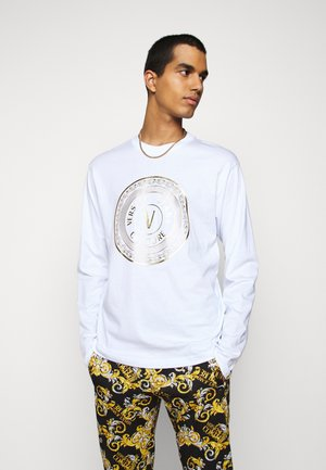 LOGO - Long sleeved top - white/gold