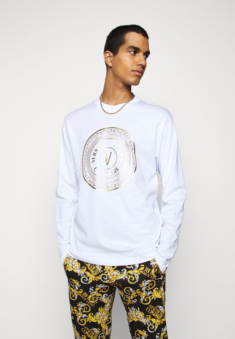 Versace Jeans Couture - LOGO - Long sleeved top - white/gold