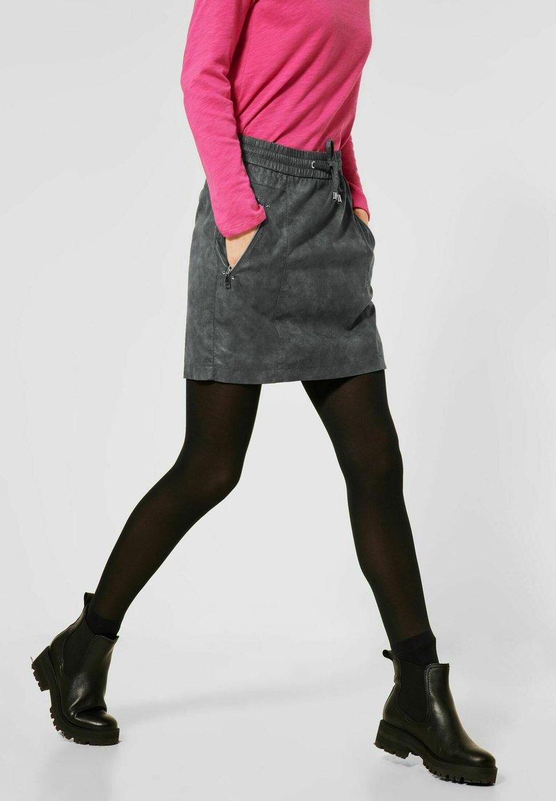 Street One - Mini skirt - grau