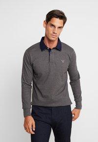 GANT - THE ORIGINAL HEAVY RUGGER - Polo shirt - charcoal melange - 0