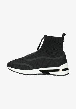 SNEAKER - Sneakersy wysokie - black knitted