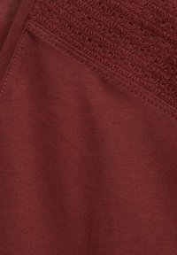 Cecil - MIT SMOK-DETAILS - Basic T-shirt - braun - 4