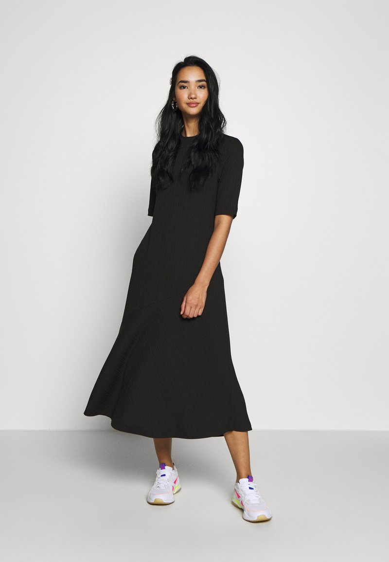 Monki - HALLEY DRESS - Jerseykjole - black