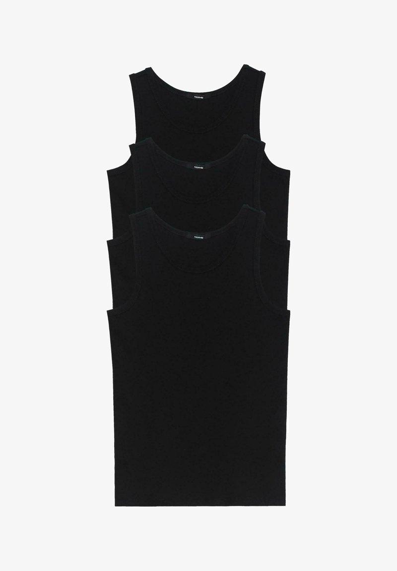Tezenis - 3 MULTIPACK - Undershirt - nero