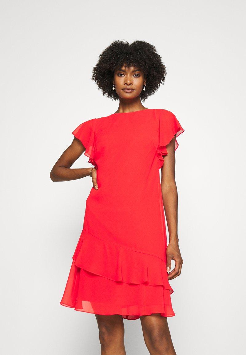 Lauren Ralph Lauren - CYRENA CAP SLEEVE DAY DRESS - Vapaa-ajan mekko - bright hibiscus
