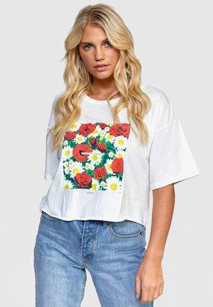 T-shirt print - vintage white