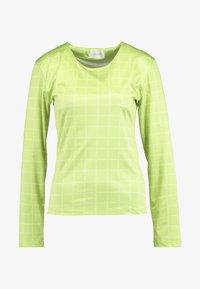 NORA LOGO - Camiseta de manga larga - lime green