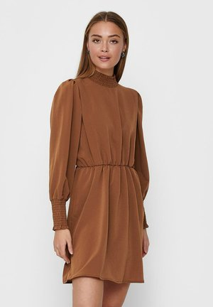 GESMOKTES - Day dress - tobacco brown