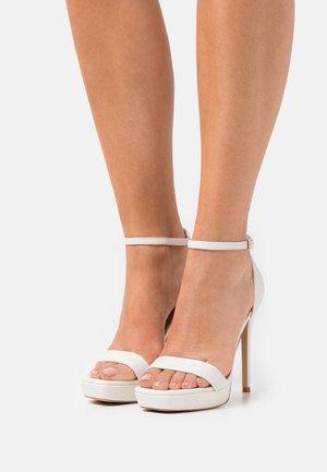 SCARLETT - Platform sandals - white
