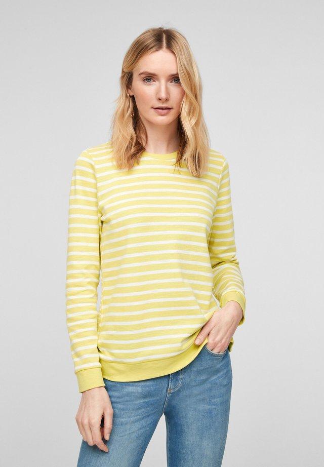 T-shirt à manches longues - light yellow