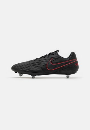 LEGEND 8 PRO SG - Screw-in stud football boots - black/dark smoke grey/chile red