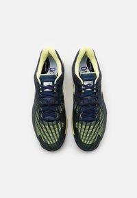 Lotto - MIRAGE 100 CLY - Zapatillas de tenis para tierra batida - navy blue/yellow neon/all white - 3