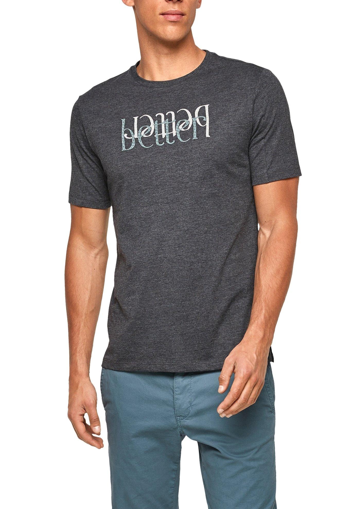Homme MET GEBORDUURDE TEKST - T-shirt imprimé