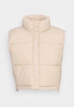 CUT PUFFER VEST - Waistcoat - beige