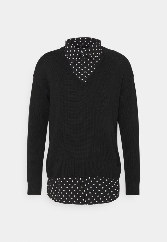 GASSED COLLAR - Sweter - black