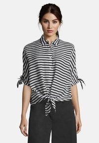 Betty Barclay - MIT STREIFEN - Button-down blouse - weiß/schwarz - 0