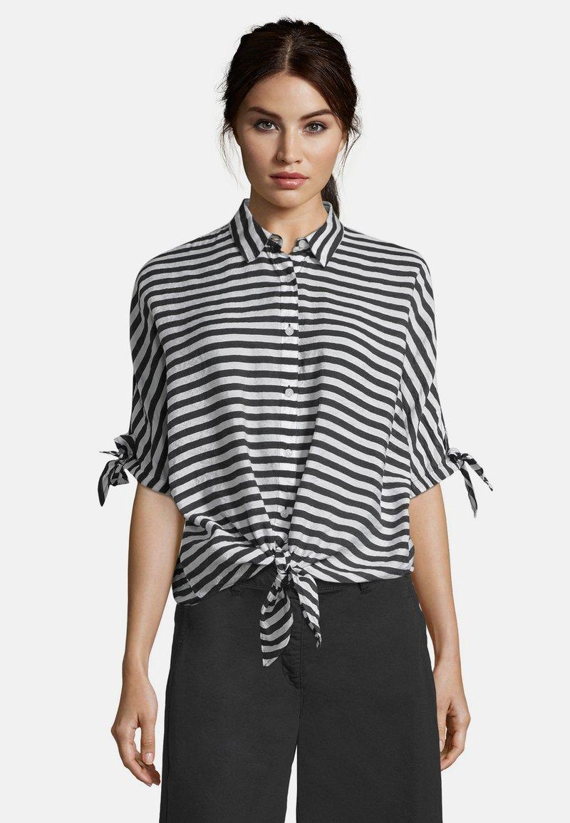 Betty Barclay - MIT STREIFEN - Button-down blouse - weiß/schwarz