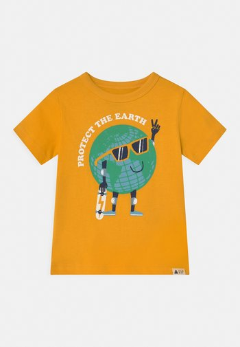 TODDLER BOY GRAPHIC - Print T-shirt - yellow sundown