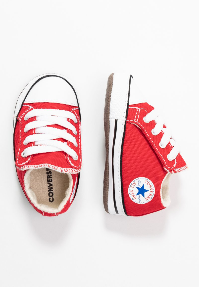 Converse - CHUCK TAYLOR ALL STAR CRIBSTER MID - Chaussons pour bébé - university red/natural ivory/white
