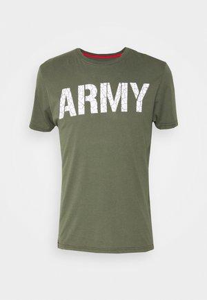 ARMY CRACK - Print T-shirt - dark olive