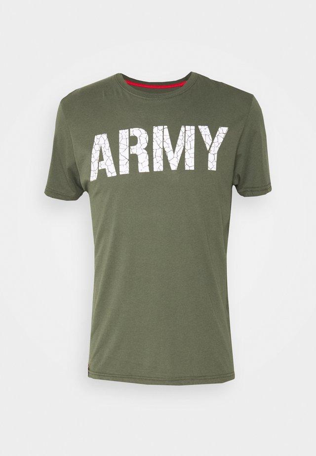 ARMY CRACK - T-shirt z nadrukiem - dark olive