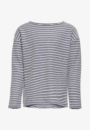 OBERTEIL GESTREIFTES - Print T-shirt - peacoat